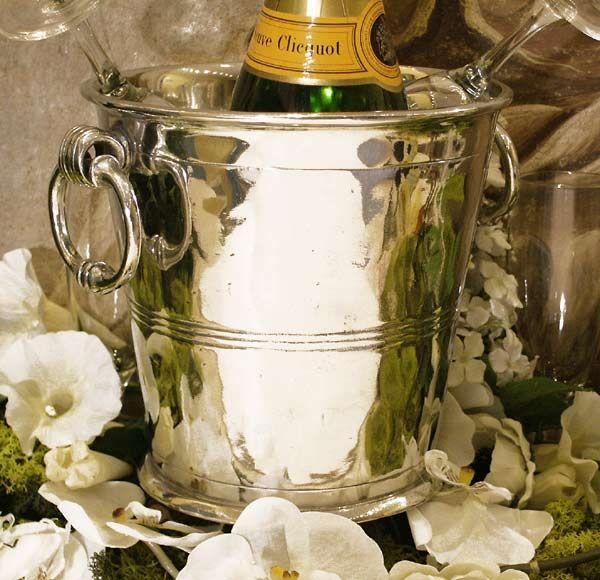 Seau+champagne+Consulat etain aspect argent massif