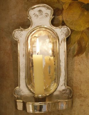 Applique Monastere etain aspect argent massif