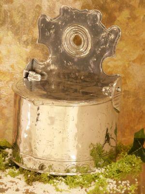 Boite+sel+Guerande etain aspect argent massif