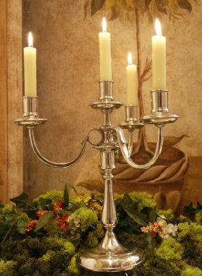 cadeau chandelier étain aspect argent massif