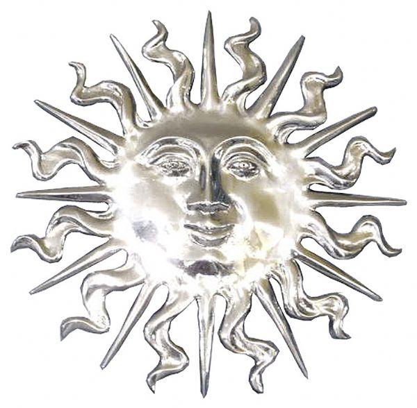Soleil en etain aspect argent massif