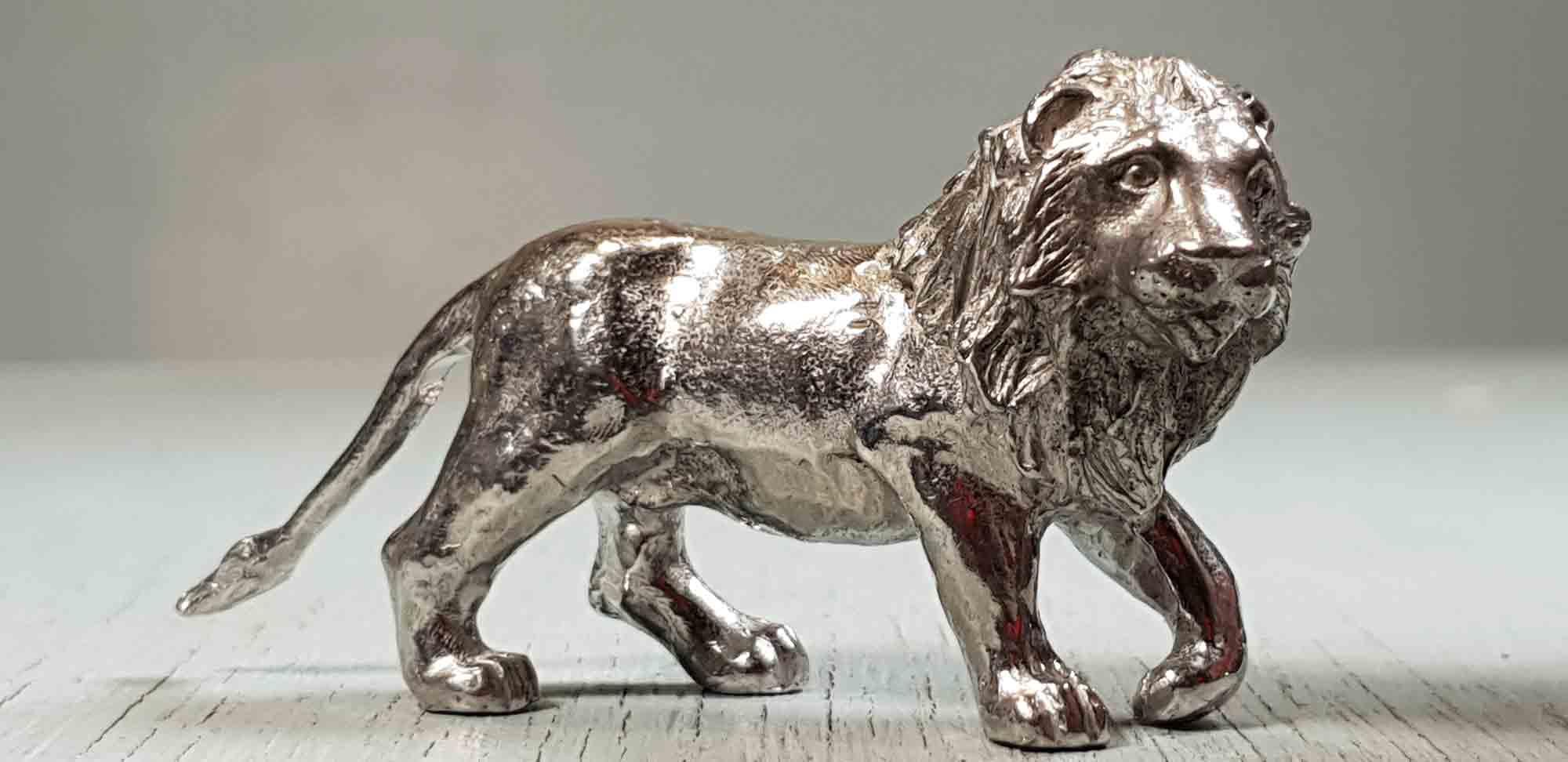 lion en etain, etains du campanile