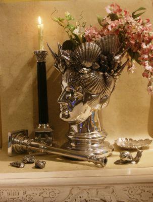 vase decoratif en etain