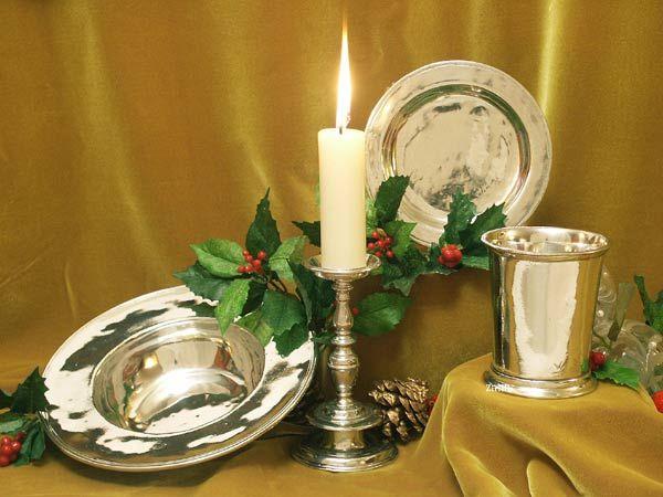 Cadeaux Noel etain aspect argent massif