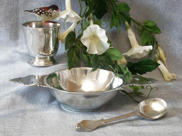 cadeaux timbale de naissance ou de baptême à graver cuillère et bol