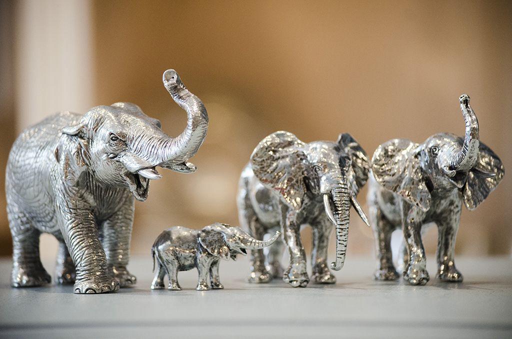 cadeau figurines éléphants Etains du Campanile Etain-Passion