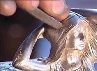 redefinir un relief sur un objet en etain