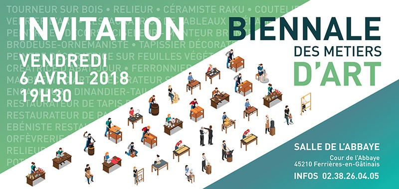 invitation 1 biennale des metiers d art 6 au 8 avril 2018