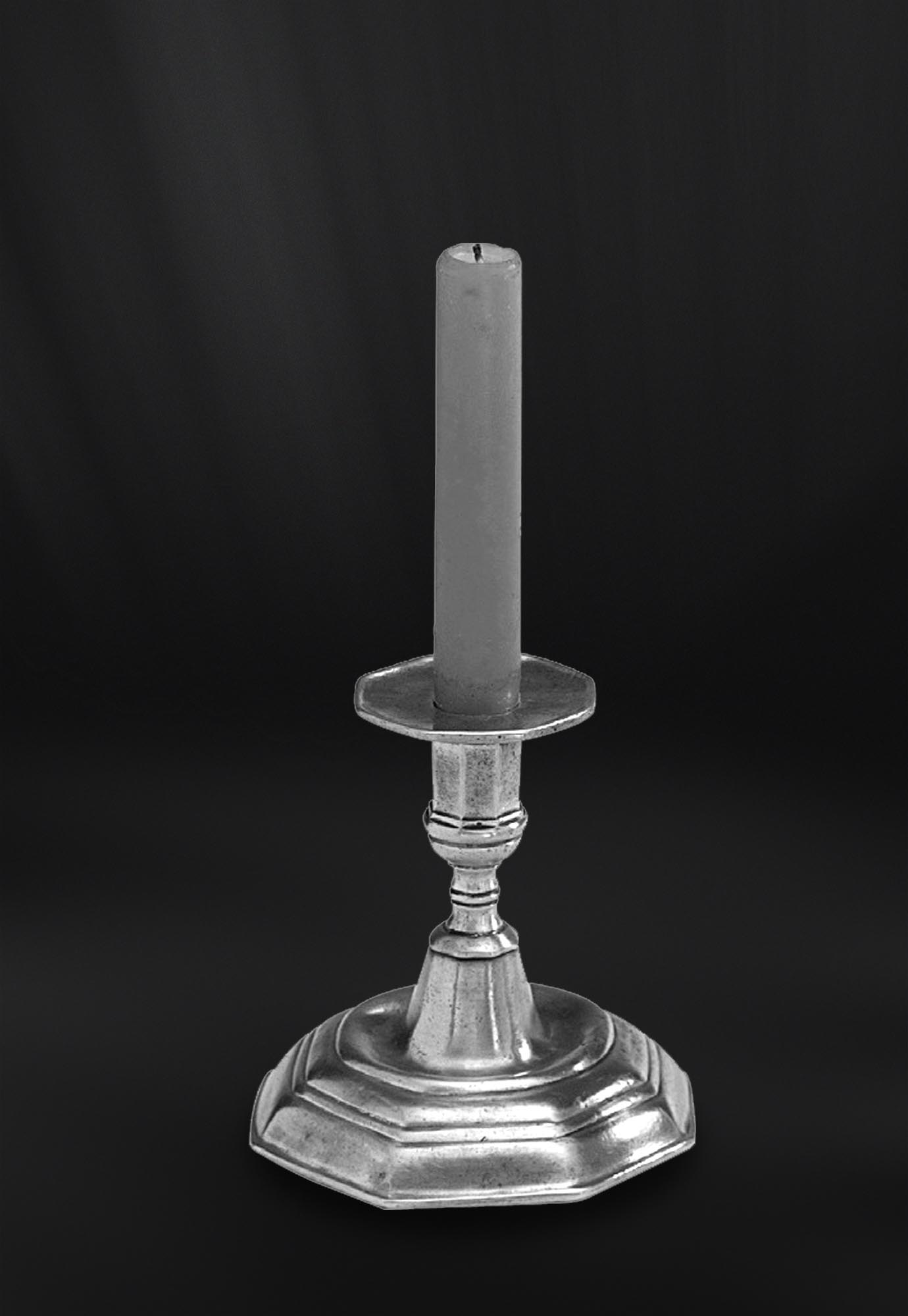 BOUGEOIR etain antique