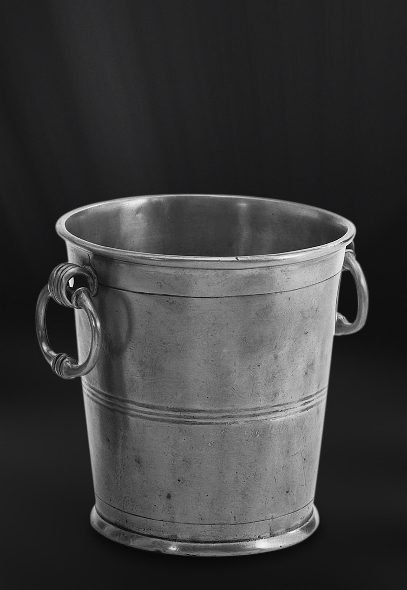 SEAU CHAMPAGNE etain antique