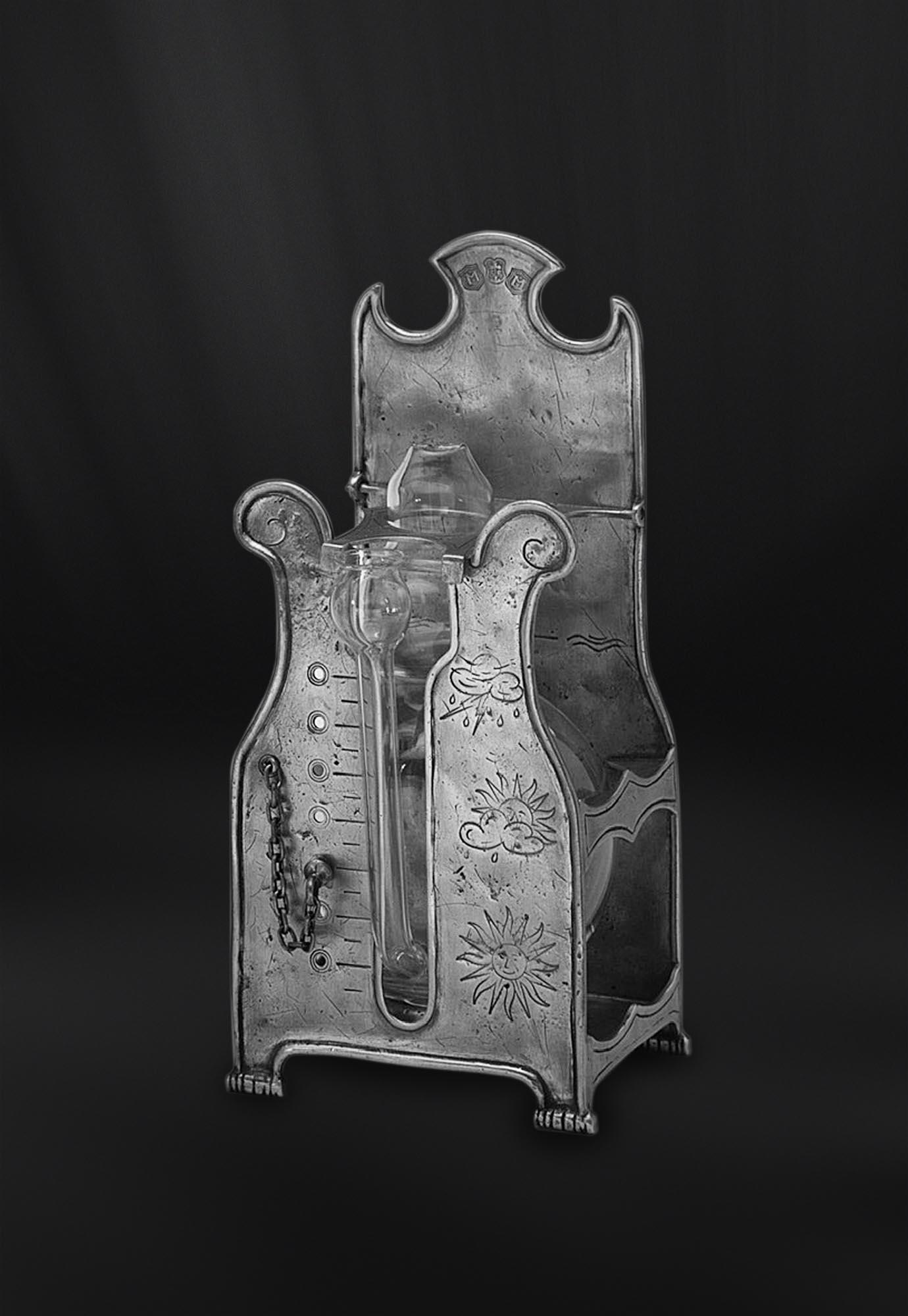 BAROMETRE etain antique