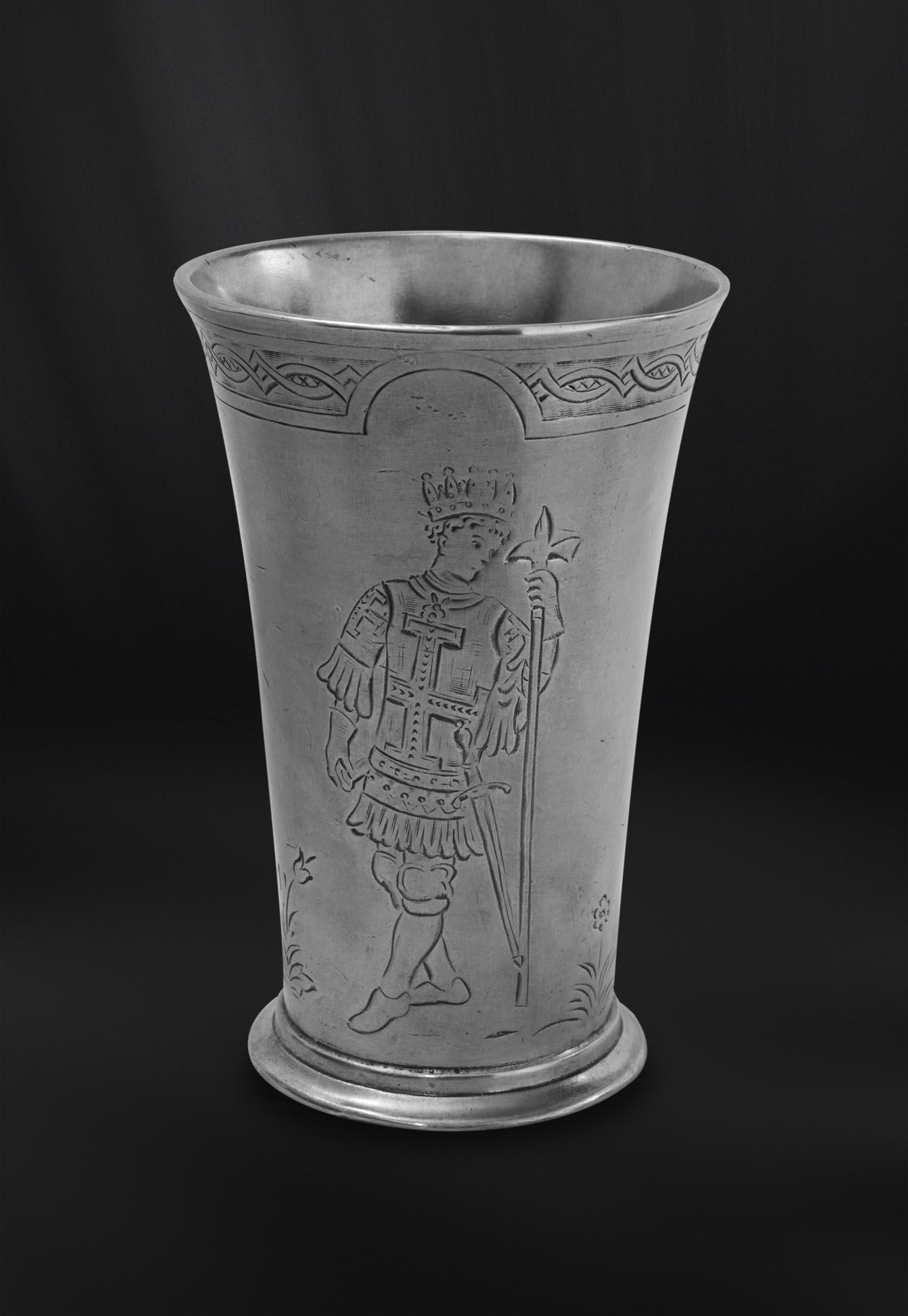 CHOPE A BIERE etain antique