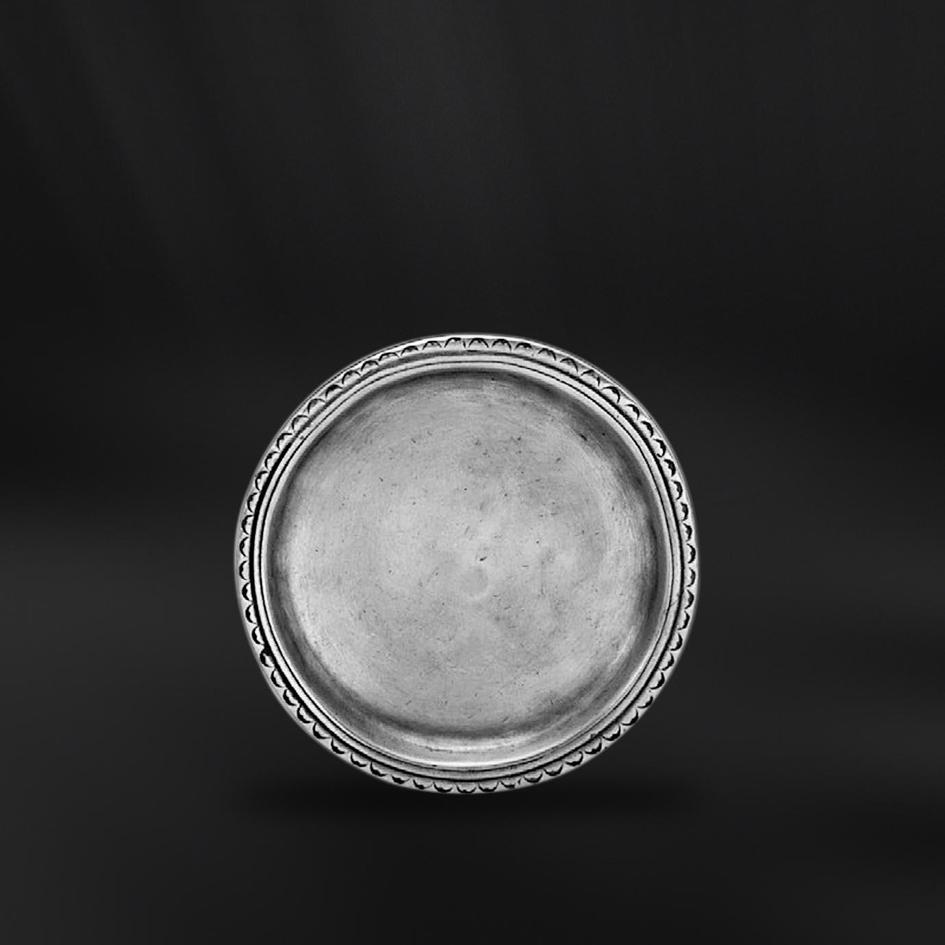 DESSOUS DE VERRE etain antique