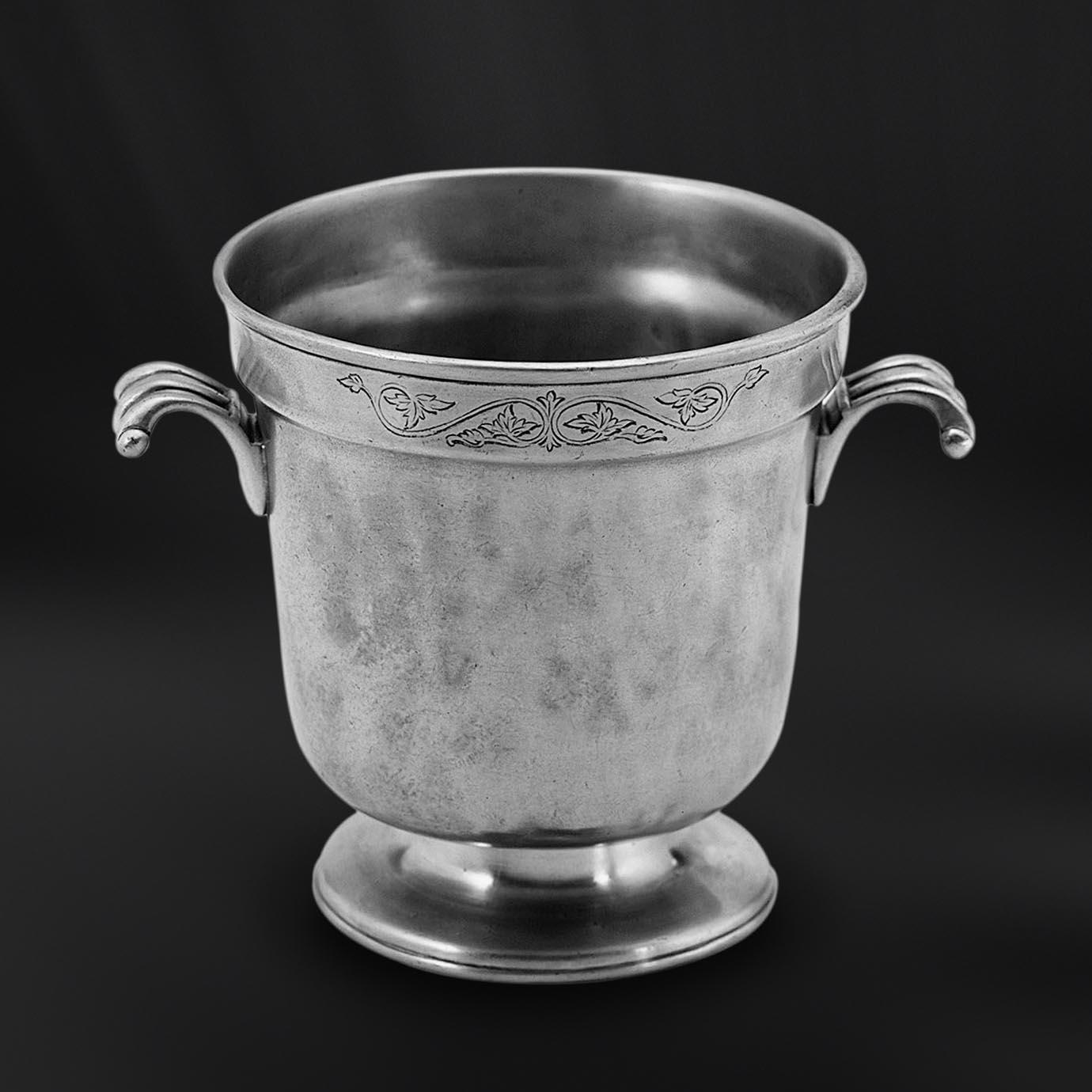SEAU GLACE etain antique