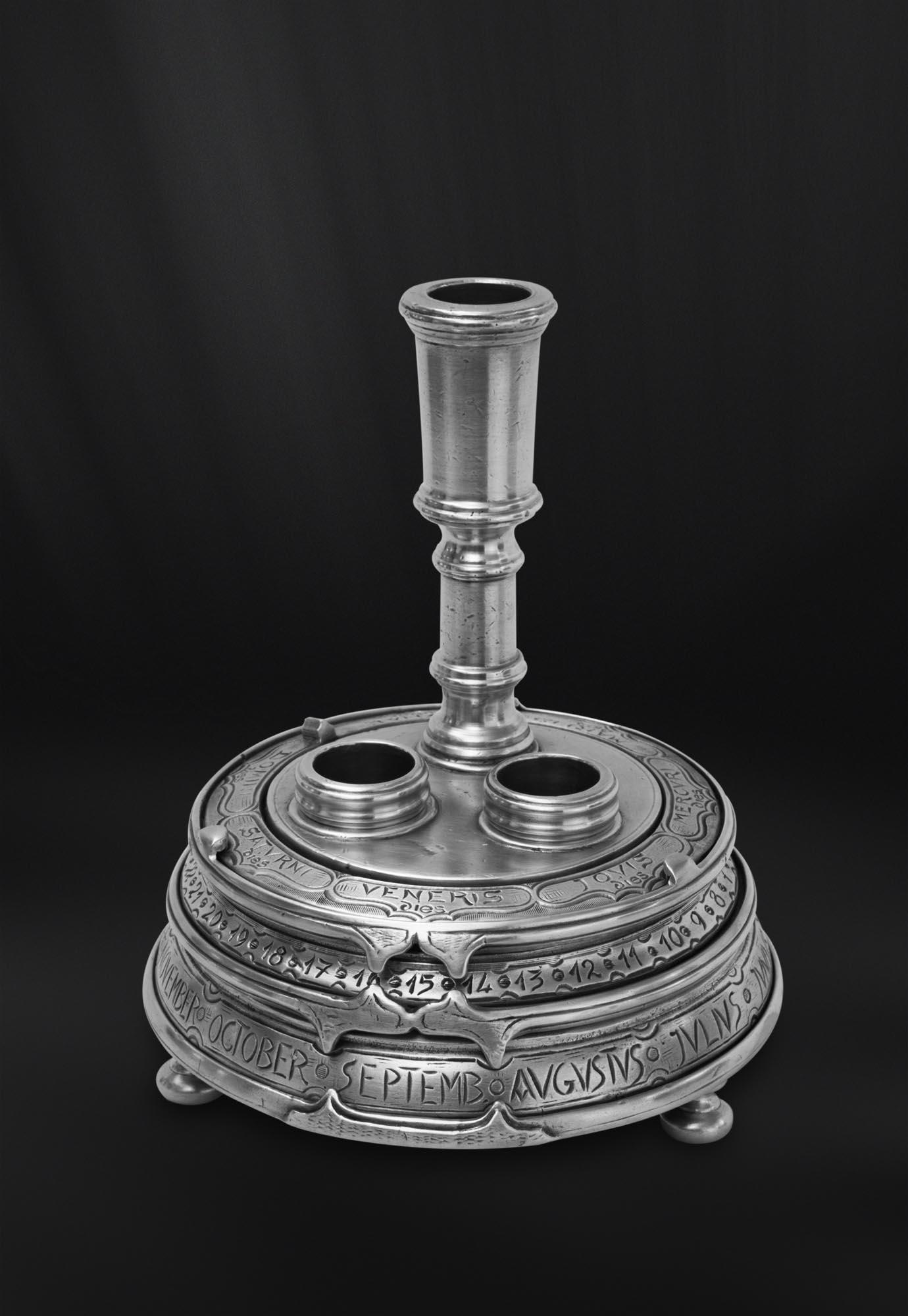 ENCRIER etain antique