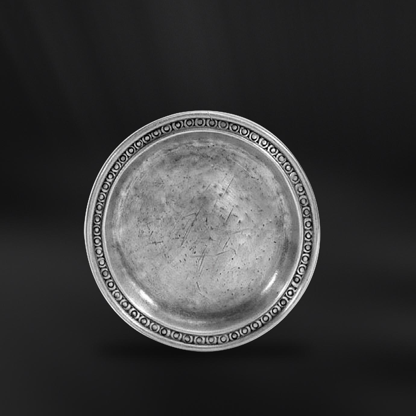 DESSOUS DE BOUTEILLE etain antique