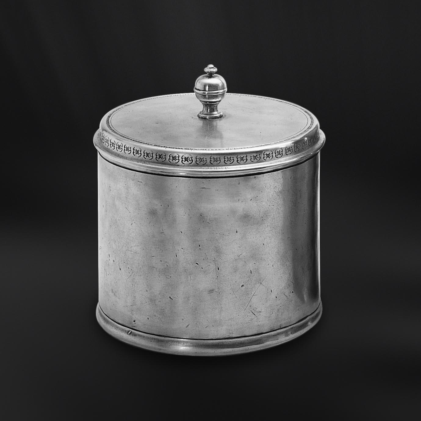 POT A PHARMACIE etain antique