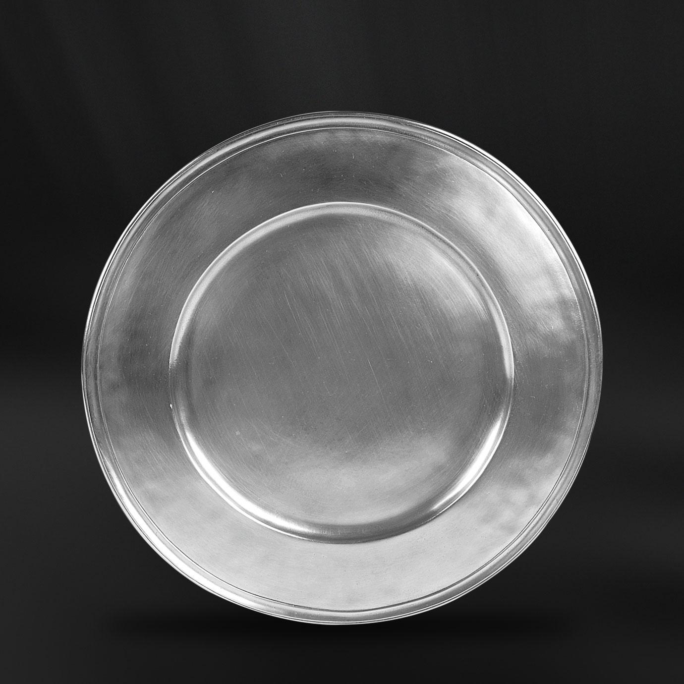 ASSIETTE PRESENTATION etain antique