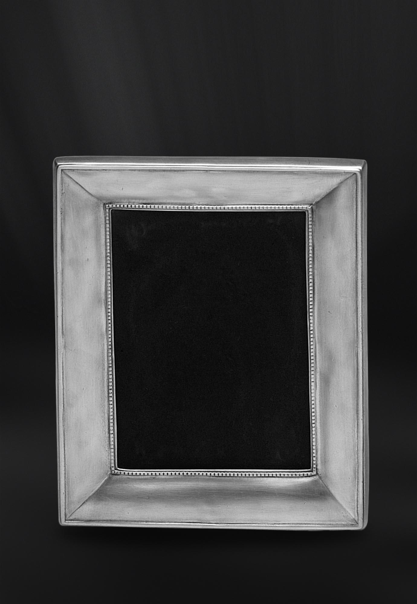 CADRE PHOTO etain antique