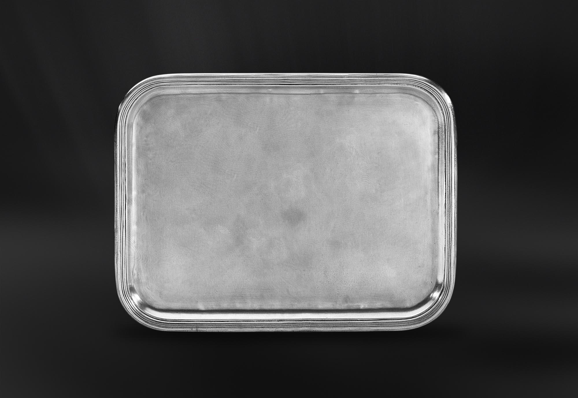 PLATEAU etain antique